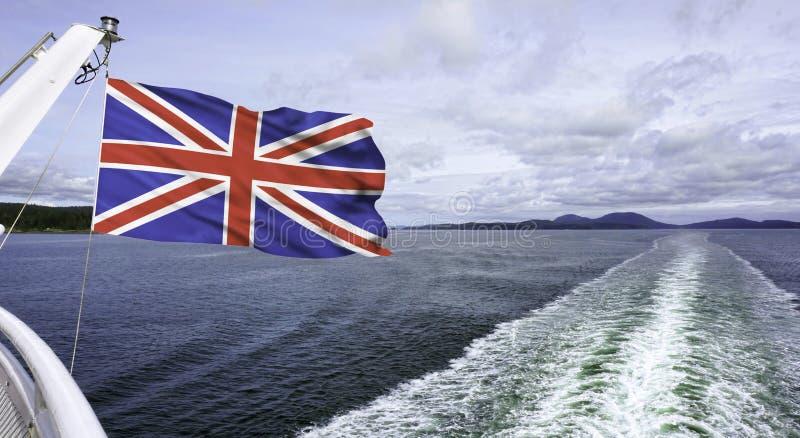 Brittiskt flaggaflyg royaltyfri bild