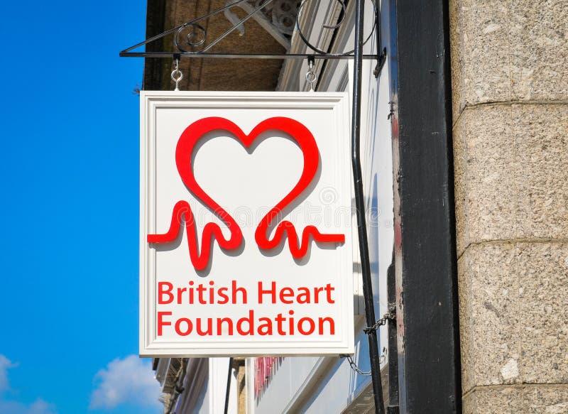 Brittiskt hjärtafundament fotografering för bildbyråer