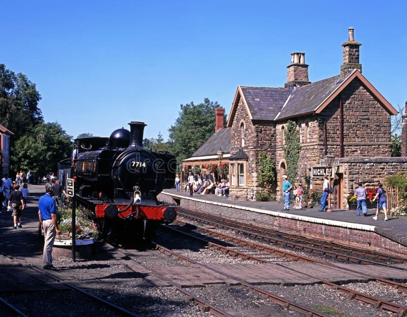 Brittiskt järnvägångadrev, Highley royaltyfria foton