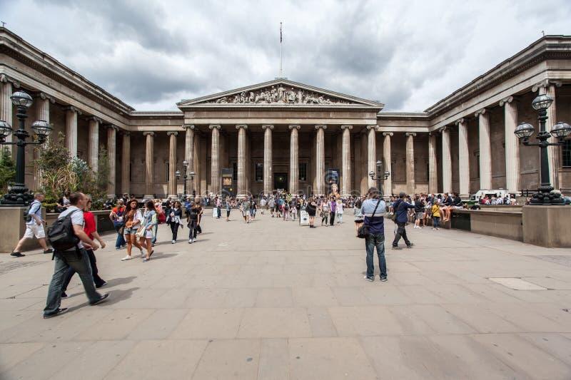 Brittiskt museum London England royaltyfria bilder