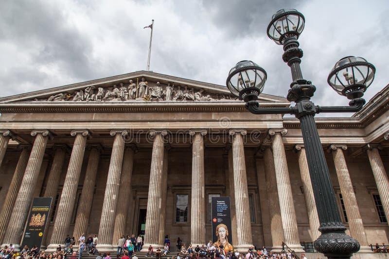 Brittiskt museum London England royaltyfri fotografi