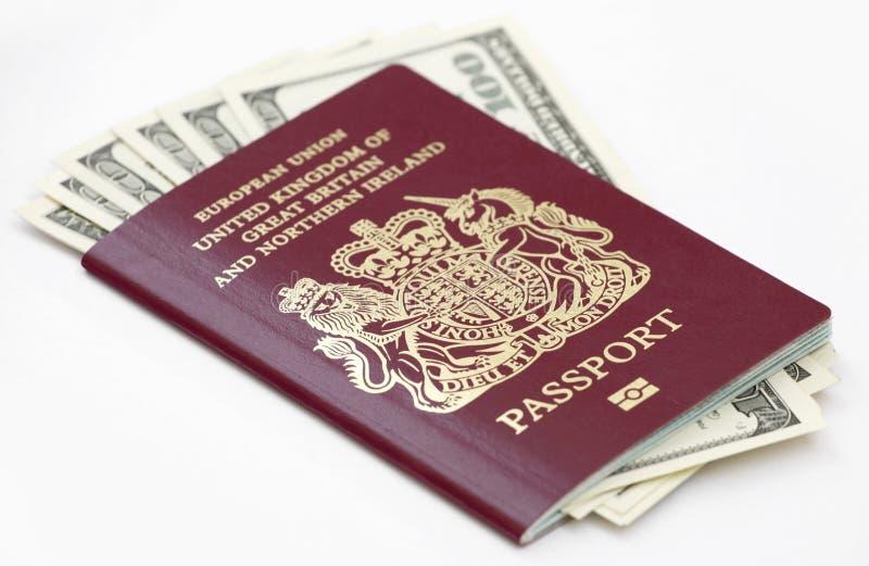 brittiskt pass royaltyfria bilder