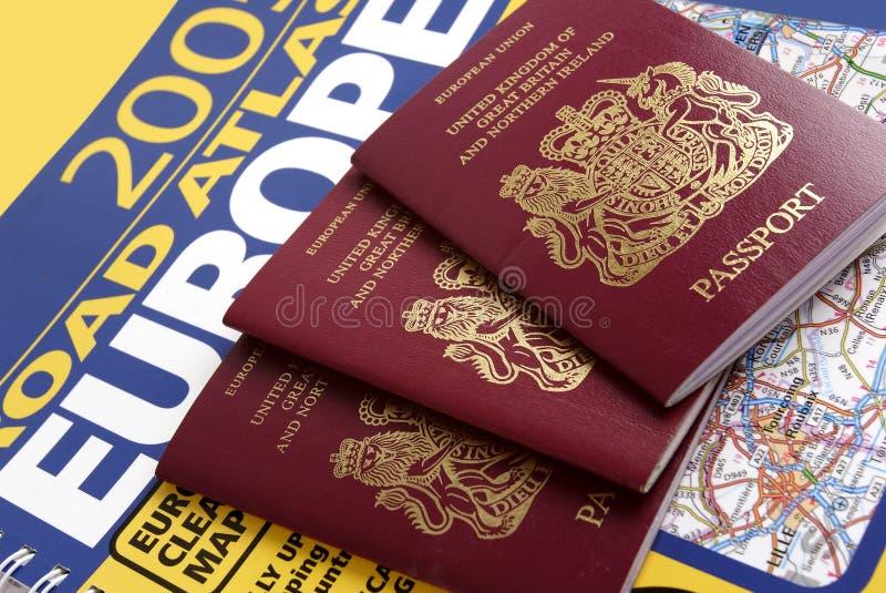 brittiskt pass royaltyfria foton