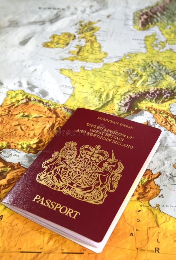 brittiskt pass arkivfoto