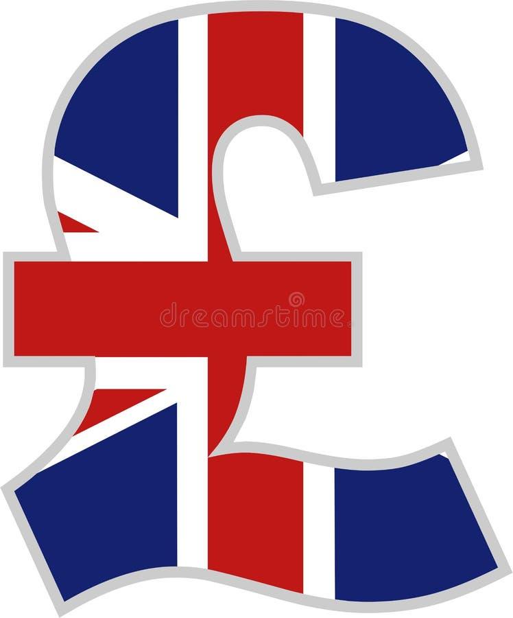 brittiskt pund vektor illustrationer
