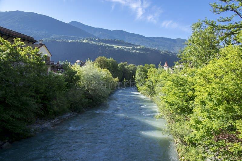 Brixen gator, otta, Bozen, Italien, Europa arkivbild