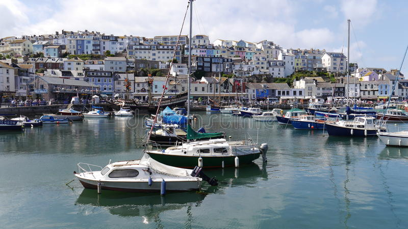 Brixham Devon. The Harbour and town of Brixham in South Devon. England Uk stock photos