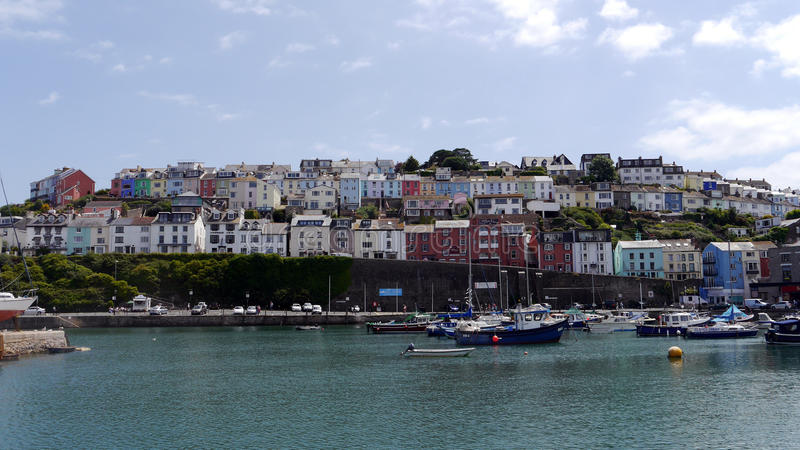 Brixham Devon. The Harbour and town of Brixham in South Devon. England Uk royalty free stock photo