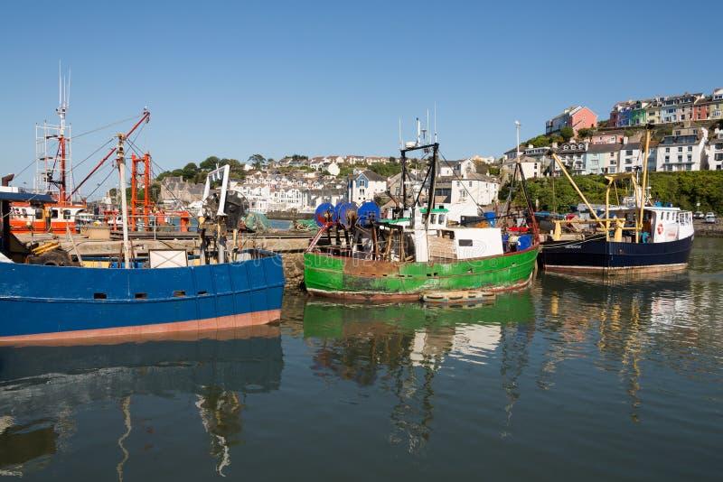Brixham hamn fotografering för bildbyråer