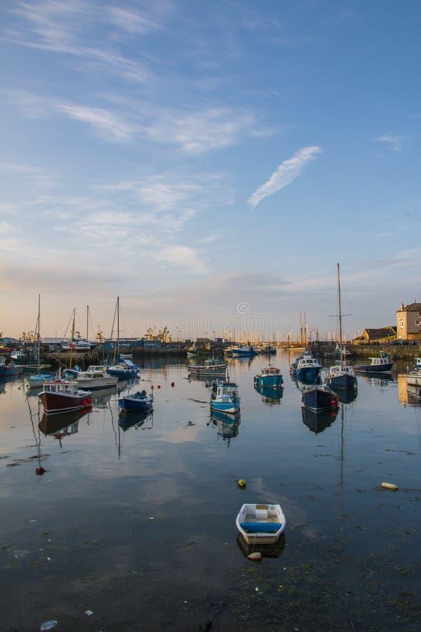 Brixham hamn, Devon, England fotografering för bildbyråer