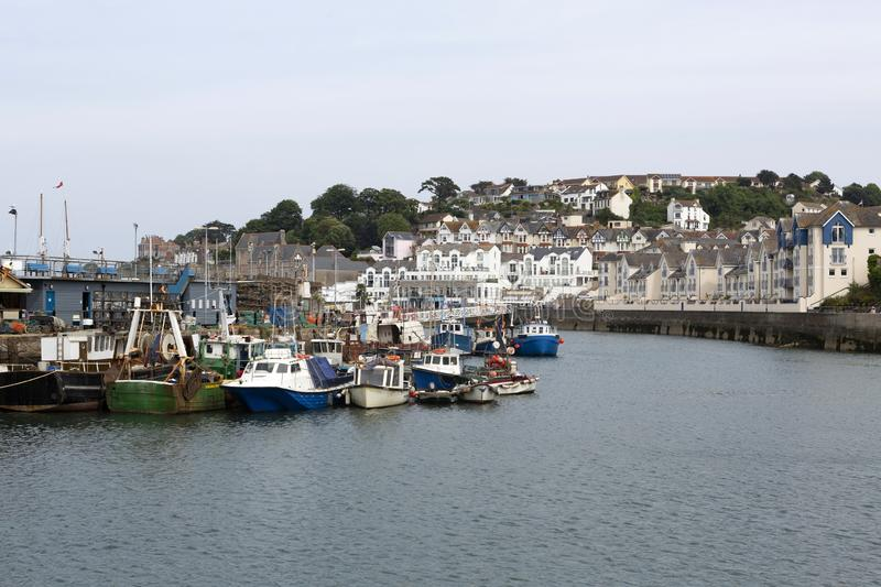 Picturesque Brixham harbour, Devon, UK. Brixham harbour; a pretty fishing harbour situated in Devon, UK royalty free stock photo