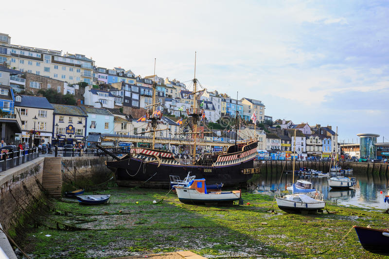 Brixham Harbour in Torbay is a quaint fishing village located in Devon, England stock image