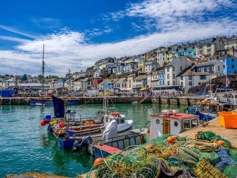 Brixham wioska rybacka - Devon Zjednoczone Królestwo zdjęcia stock