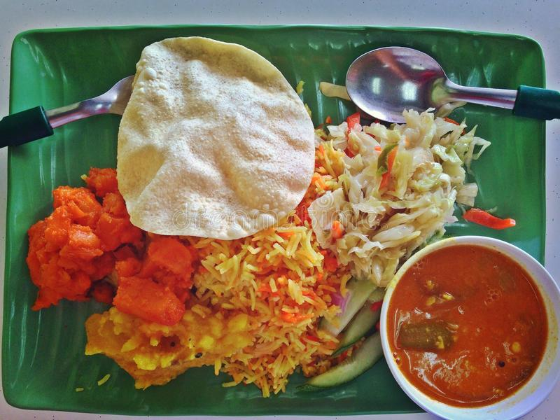 Briyani indiano do nasi do vegetariano foto de stock royalty free