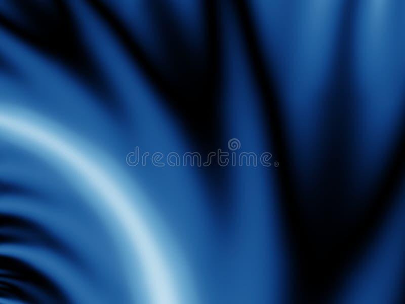 Briznas azules del terciopelo en negro stock de ilustración