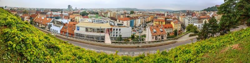 Brno är i andra hand - den största staden i Tjeckien arkivbild
