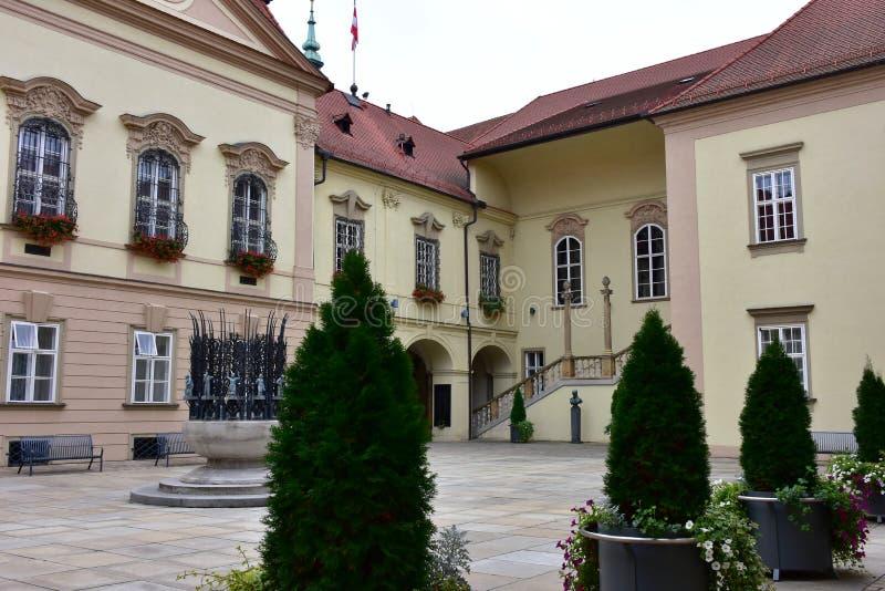Brno, capital de la pieza de Moravian de la República Checa foto de archivo