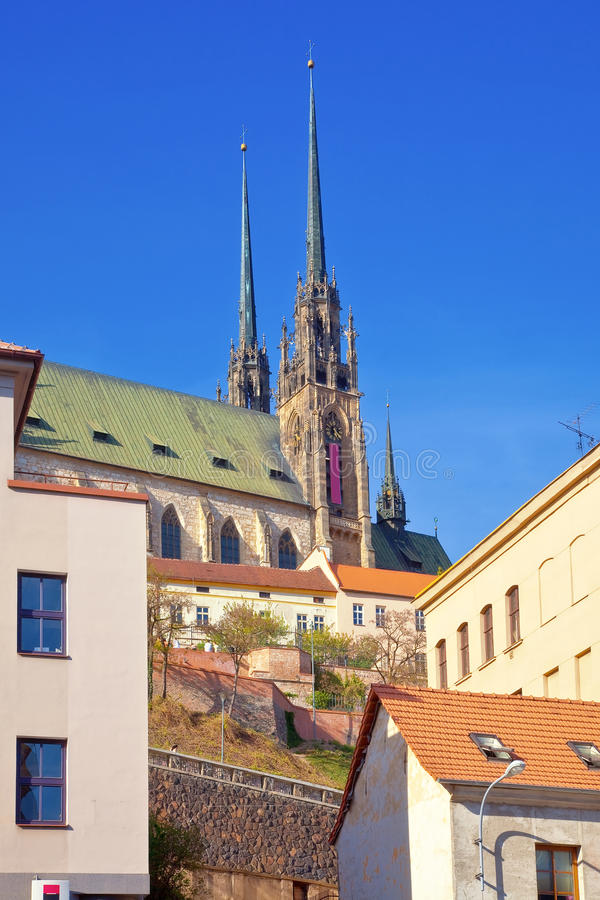 Brno. Cityscape arkivbild