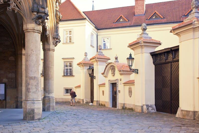 Brno, cityscape stock afbeelding
