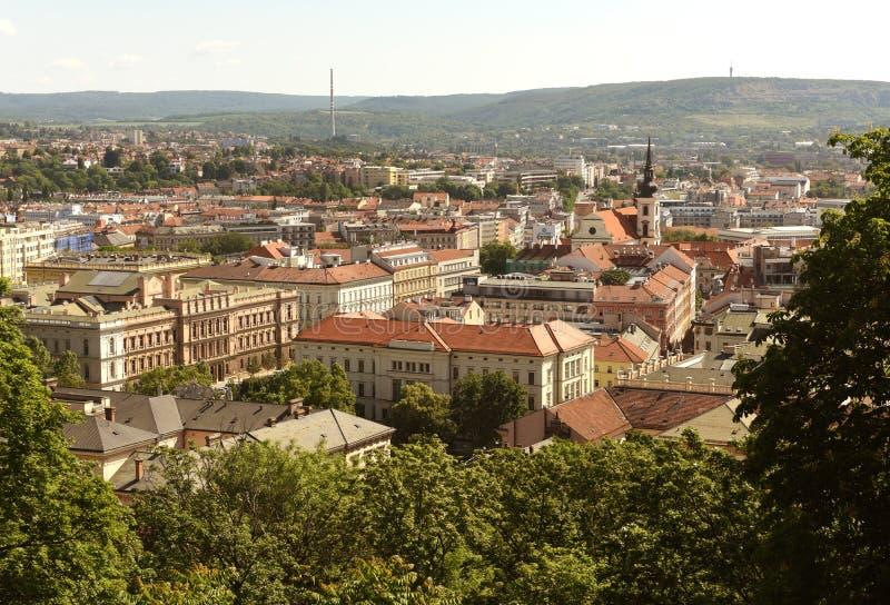 Brno cityscape, Tsjechische Republiek royalty-vrije stock foto