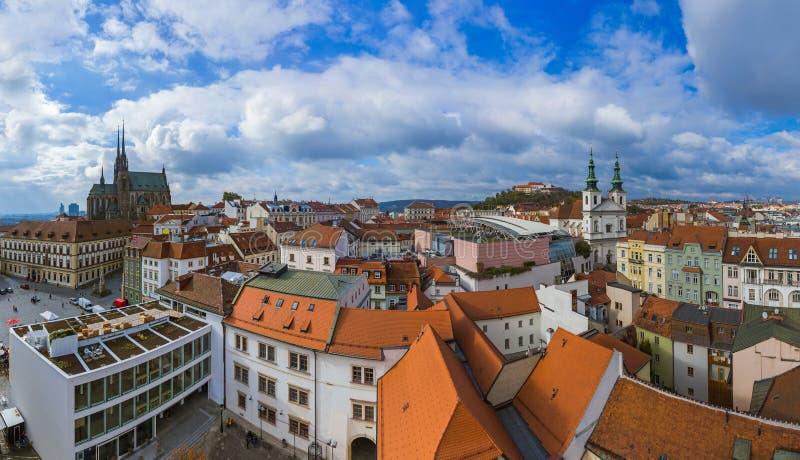 Brno cityscape in Tsjechische Republiek royalty-vrije stock foto
