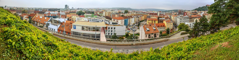 Brno est deuxième plus grand ville dans la République Tchèque photographie stock