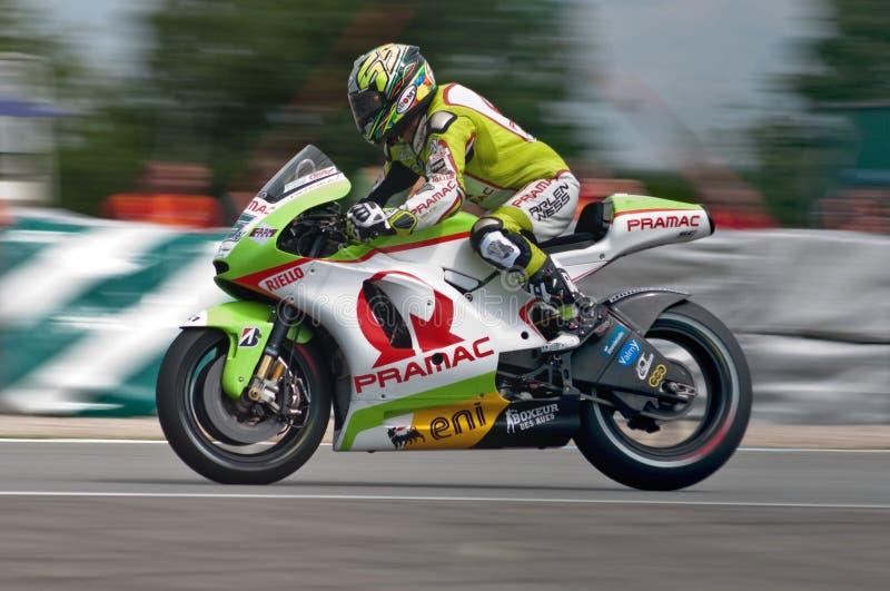 BRNO - Loris Capirossi - Hauptrennen von MotoGP lizenzfreies stockbild