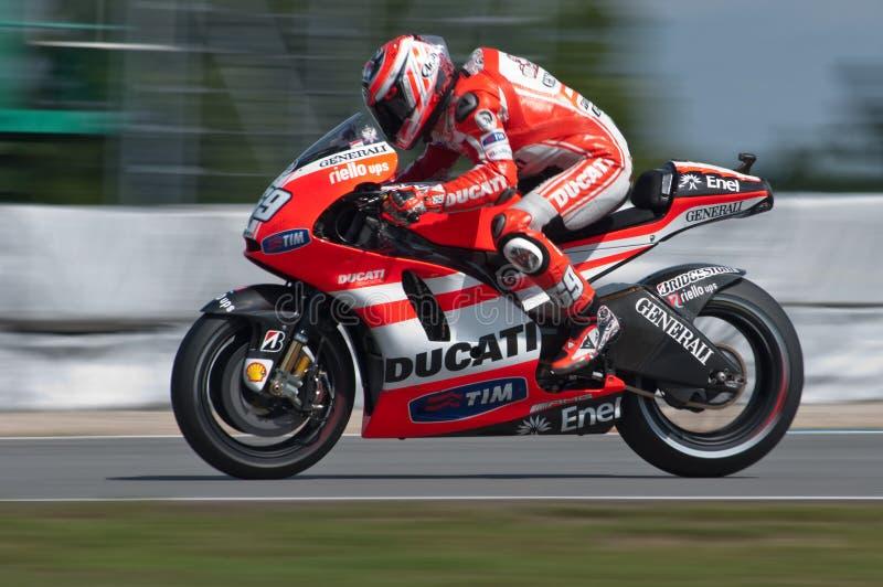 BRNO-- Nicky-Hayden Hauptrennen von MotoGP stockfotografie