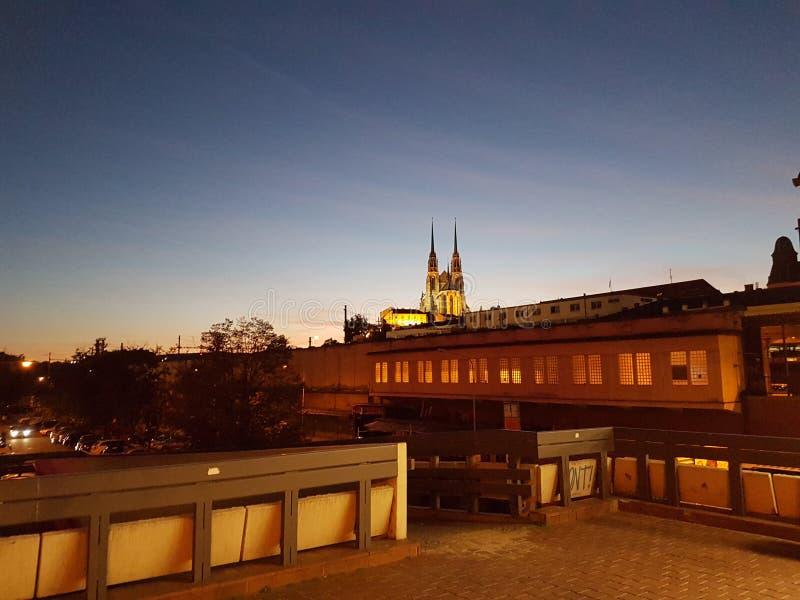 Brno night landscape stock image