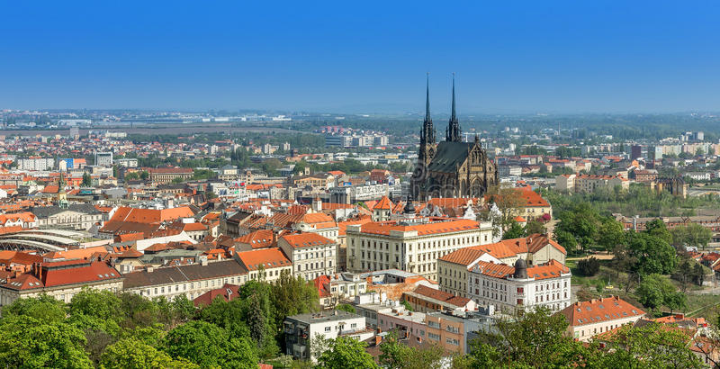 Download Brno stock photo. Image of roofs, blue, historic, petrov - 42801370
