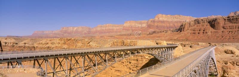 Bro över Coloradofloden royaltyfri foto