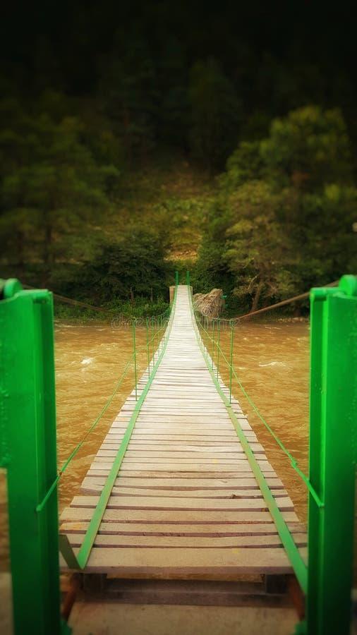 Bro över den sista helgen royaltyfria bilder