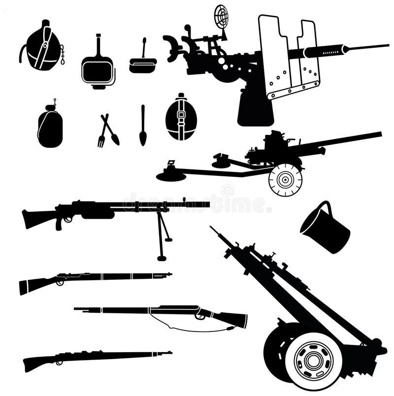 Download Broń 2 ilustracja wektor. Obraz złożonej z dzia, niezr - 25944186