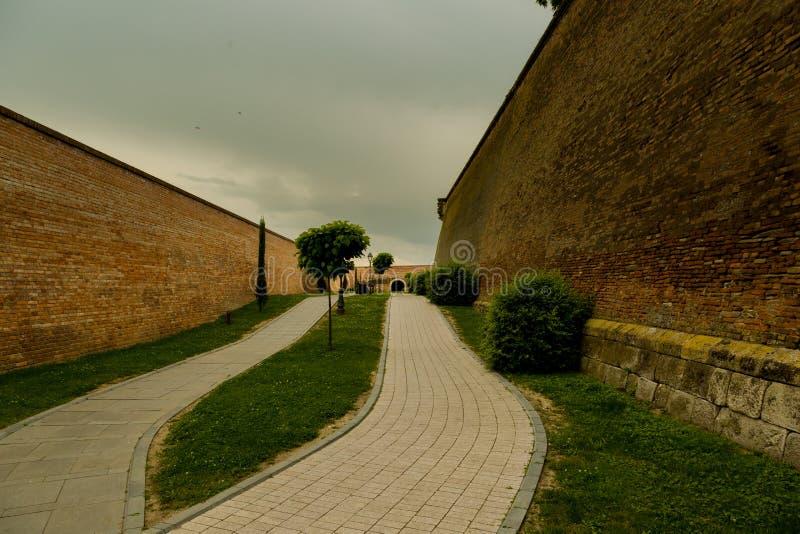 Bro Alba Iulia Citadel arkivfoton