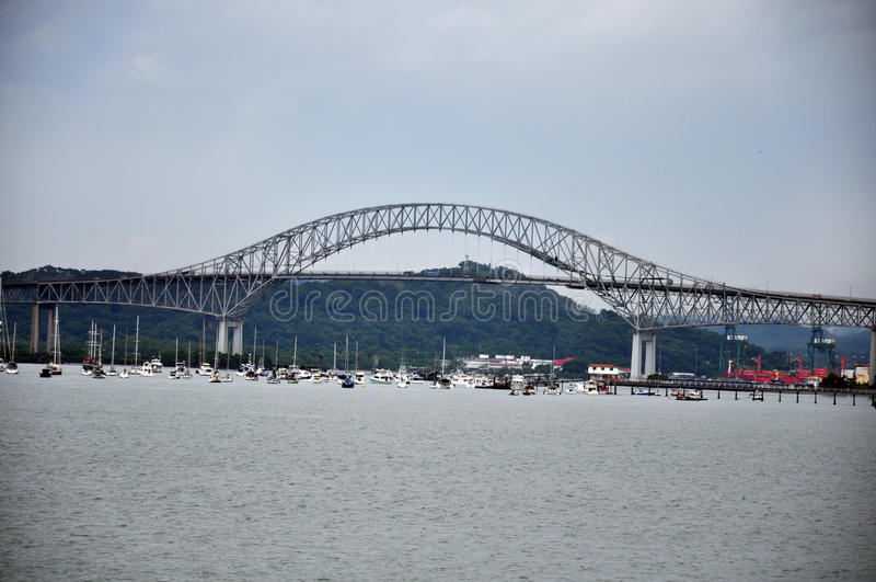 Bro av Americasna, Panama arkivfoto