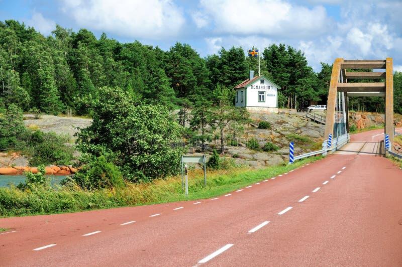 Bro av Bomarsund, Aland, Finland arkivfoto