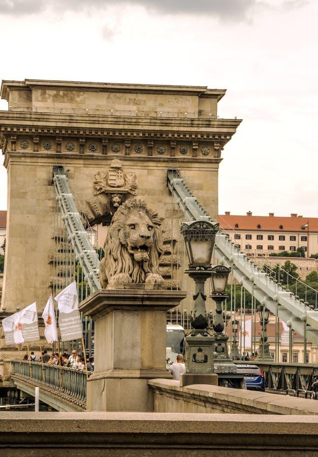Bro av Budapest arkivbilder