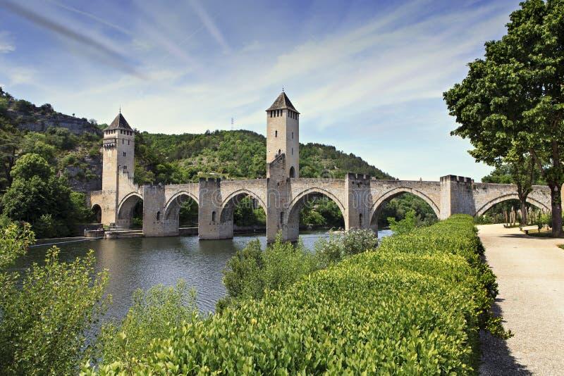 Bro av Cahors arkivfoto