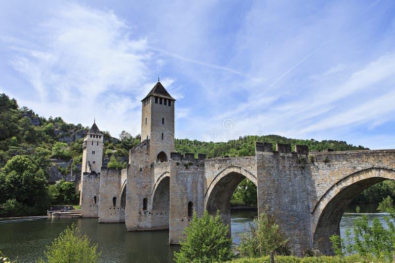 Bro av Cahors royaltyfri foto