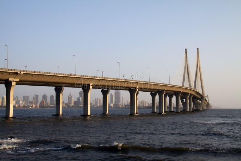 Bro för Bandra Worli havssammanlänkning av Mumbai royaltyfria foton
