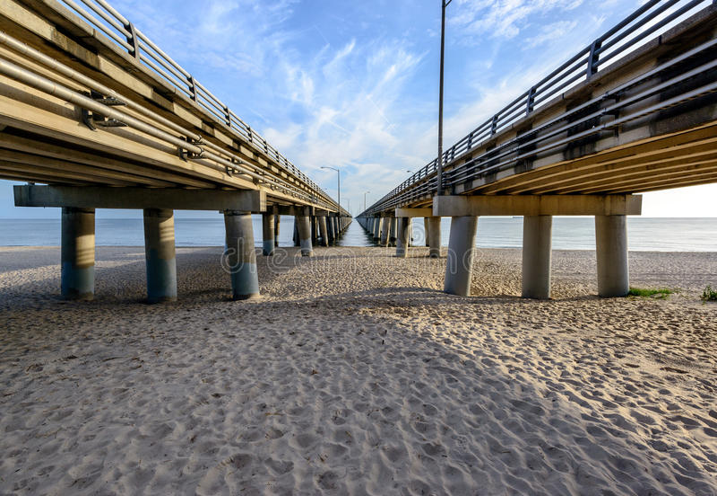 Bro för Chesapeakefjärd arkivfoto