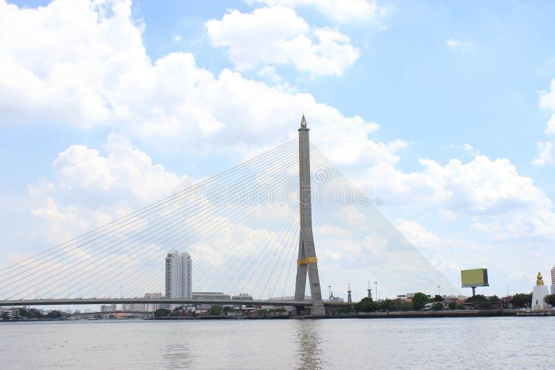 Bro för flod Rama8 i Thailand, Bangkok Rama VIII bro, Thailand arkivfoto