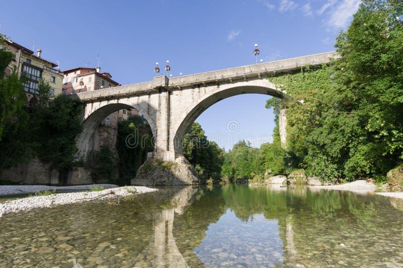 Bro för jäkel` s i Cividale del Friuli royaltyfria bilder