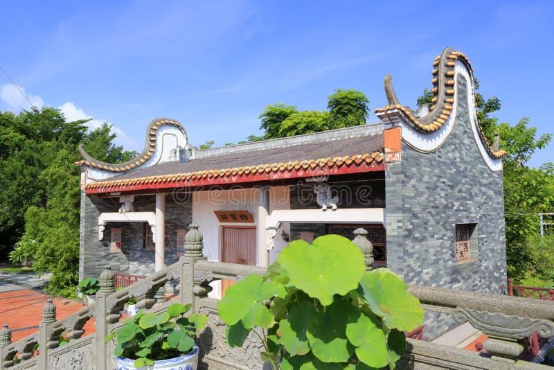 Bro för sten för kinesisk klassisk husbaiyunju near royaltyfria bilder