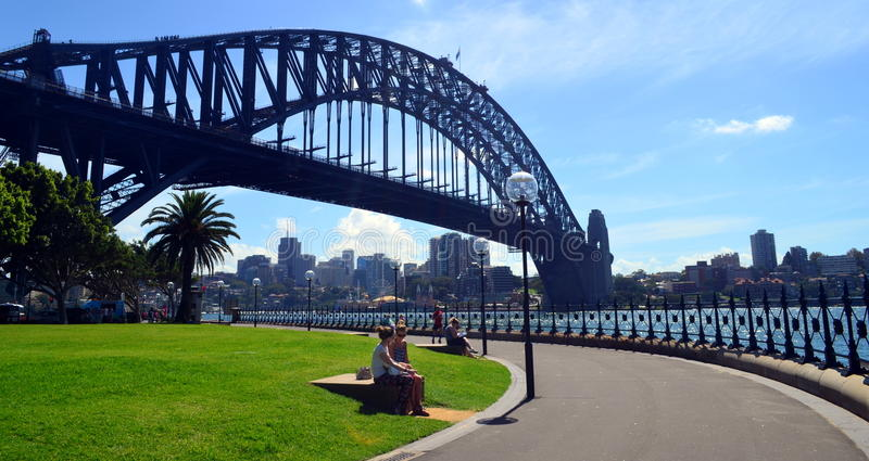 Bro för Sydney hamn arkivfoto