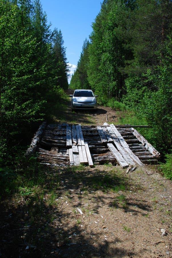 bro förlorad nordlig gammal ostrobothniaväg royaltyfri foto