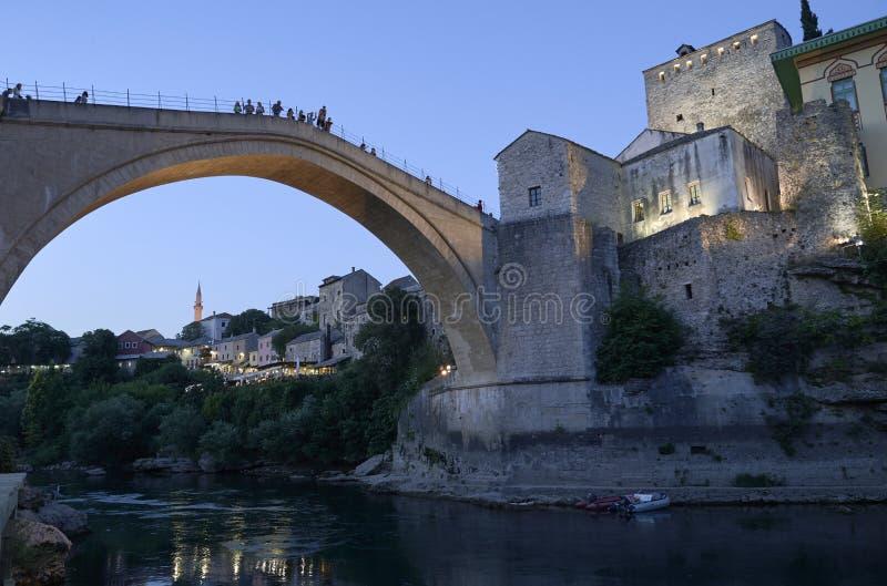 bro gammala mostar Bosnien och Hercegovina royaltyfri foto