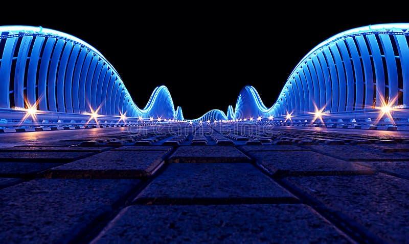 Bro i Dubai royaltyfri bild