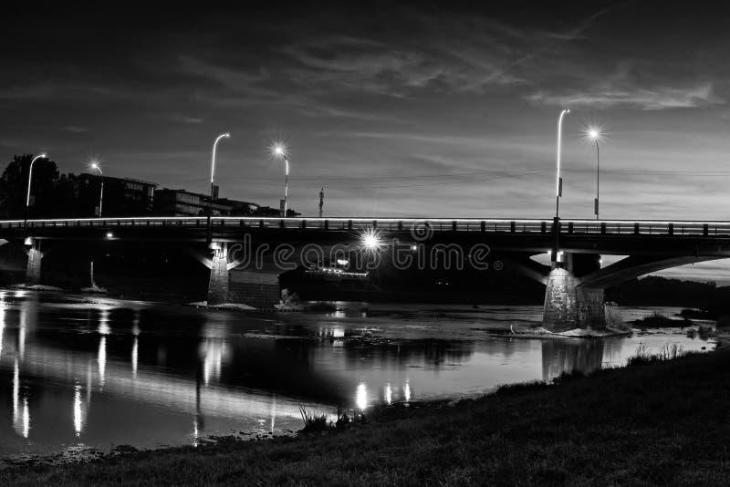 Bro i Uzhgorod fotografering för bildbyråer