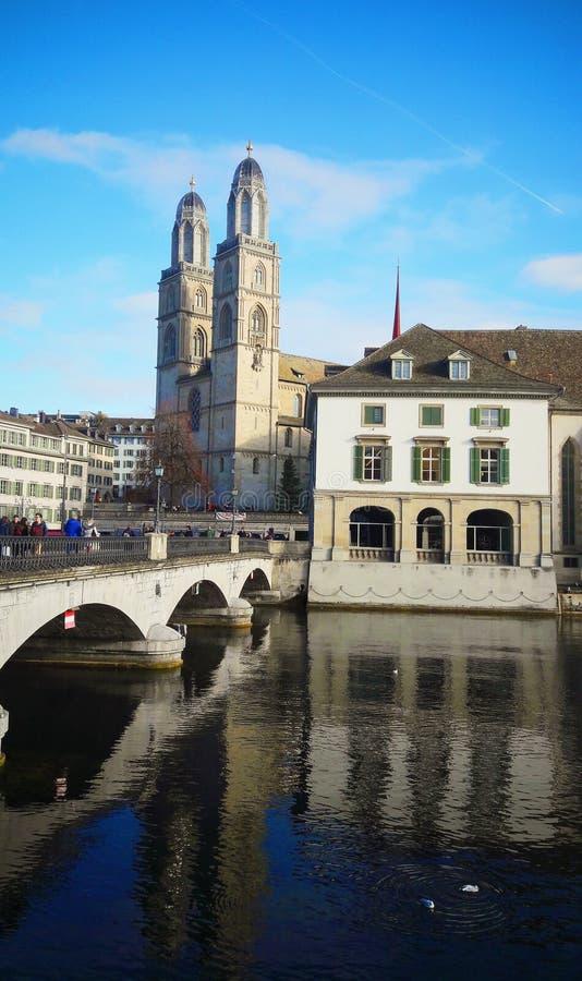 Bro i Zurich royaltyfri fotografi
